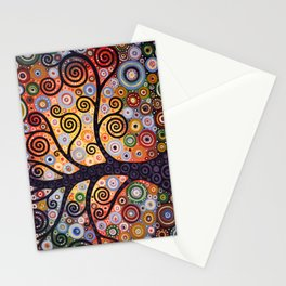 Abstract Landscape Original Art ...WESTERN SUN, by Amy Giacomelli Stationery Cards