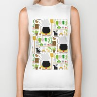 lab Biker Tanks featuring Witch's lab by Ana Linea