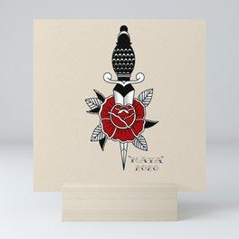 Daga traditional Tattoo Design By Maya  Mini Art Print