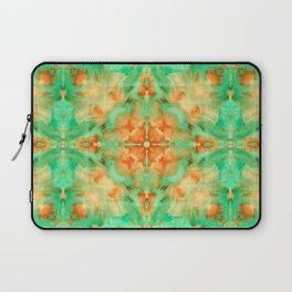 Green & orange diamond watercolors kaleidoscope Laptop Sleeve