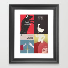 Famous Book Covers & Posters in my Shop, old books, penguin book, penguin classic Framed Art Print