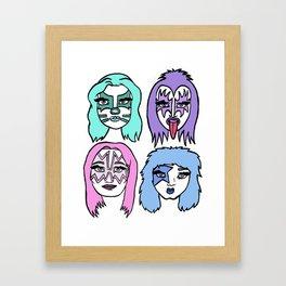 Girl Band KISS Framed Art Print