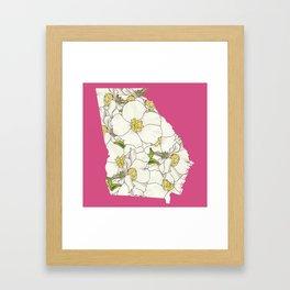 Georgia in Flowers Framed Art Print