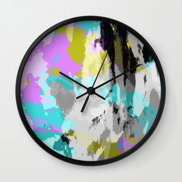 Colorful Abstract Retro Tie-Dye Art Pattern - Kameko Wall Clock