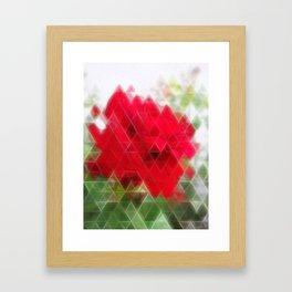 Red Rose Edges Art Triangles 2 Framed Art Print