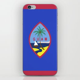Guam flag emblem iPhone Skin