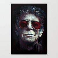 lou reed Canvas Prints featuring Lou Reed by turksworks