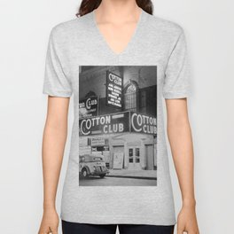 African American Harlem Renaissance Cotton Club Jazz Age Photograph Unisex V-Neck