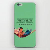 ohana iPhone & iPod Skins featuring Ohana by Dani Aviles