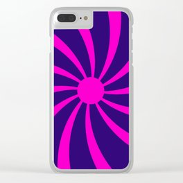 Abstract Swirl Clear iPhone Case