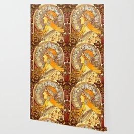 "Alphonse Mucha ""Zodiac"" Wallpaper"