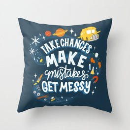 Magic Schoolbus Educational Quote Throw Pillow