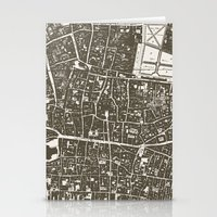 london map Stationery Cards featuring London Map by Zeke Tucker
