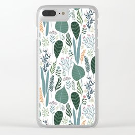 Early Spring Thaw In The Flower Garden Pattern Clear iPhone Case