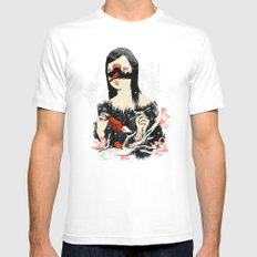 The Crane Wife White MEDIUM Mens Fitted Tee