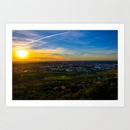 Sunset in Cácares Art Print