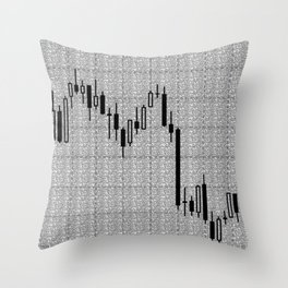 Candlestick, Forex Throw Pillow
