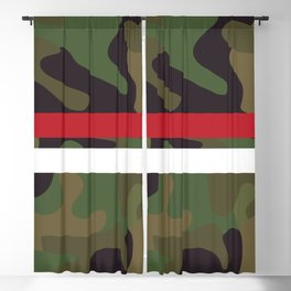 Pattern Army Camouflage Blackout Curtain