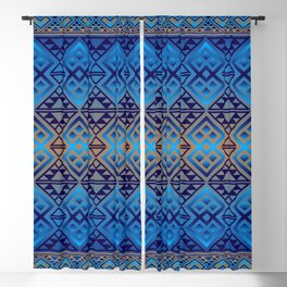 The Lodge (Blue) Blackout Curtain