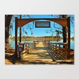 Riverfront Fishing Pier Canvas Print