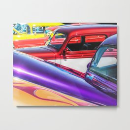 Candy Color Hot Rods, Tasty Automotive Art by Murray Bolesta Metal Print