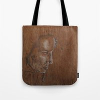 running Tote Bags featuring Running by Jesse Futter