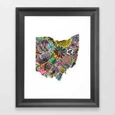 Ohio Floral Framed Art Print