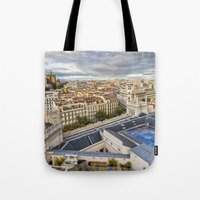 madrid Tote Bags featuring Madrid by Solar Designs