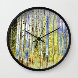 Birches II Wall Clock
