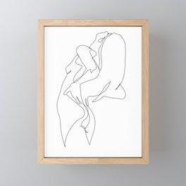 One line nude - e 5 Framed Mini Art Print