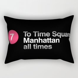7 Subway NYC Rectangular Pillow