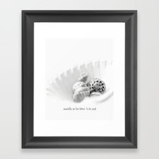 seashells are love letters in the sand Framed Art Print