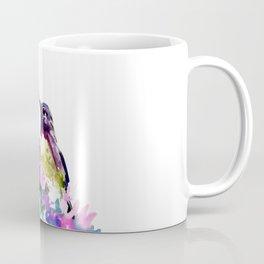 Hummingbird and Pink Flower Coffee Mug