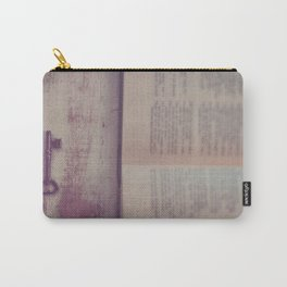 Book and Key Carry-All Pouch