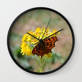 Comma Butterfly Wall Clock