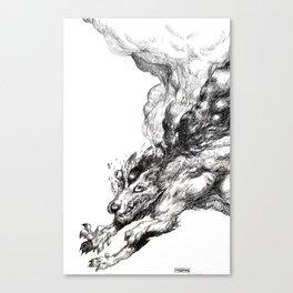 thunderwolf Canvas Print