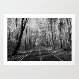 Road To Coopers Rock, WV Art Print