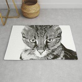 savannah cat portrait vabw Rug