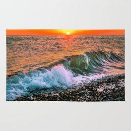 Sunset splash Rug