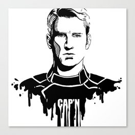 Avengers in Ink: Captain America Canvas Print