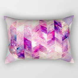 Abstract Geometric Pink Galaxy Rectangular Pillow