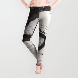 Sole d'autunno - ink drawing Leggings