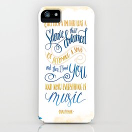 SILENCE THAT DREAMED OF BECOMING A SONG iPhone Case