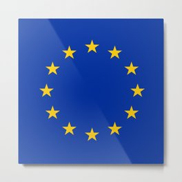 Flag of Europe 3 Metal Print