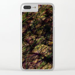 Abstract 4821 Clear iPhone Case