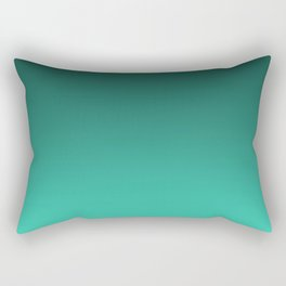 Turquoise Ombre. Rectangular Pillow