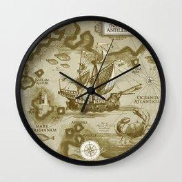 Insula Antillia Wall Clock