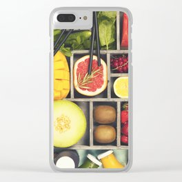 Fresh juices or smoothies with fruits and vegetables Clear iPhone Case