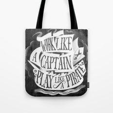 like  a pirate, black Tote Bag