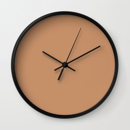 Pantone 16-1341 Butterum Wall Clock